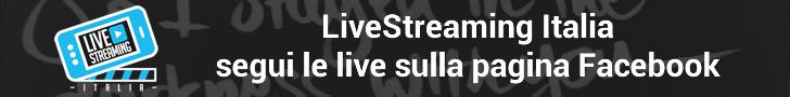 LiveStreaming Italia seguici su Facebook