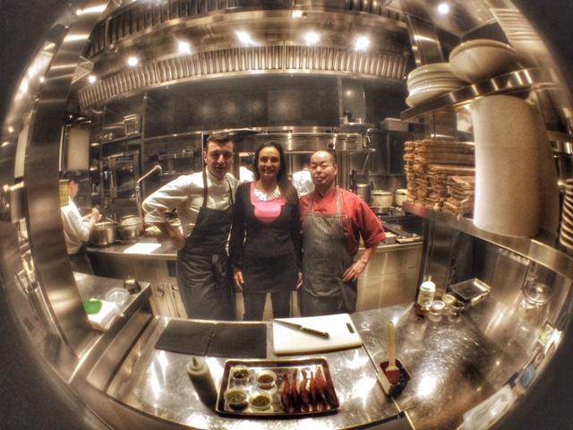 Iyo restaurant: gli chef haruo hichikawa, michele Biassoni e Rossella Canevari