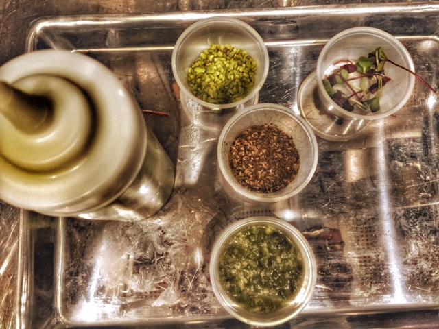 Gli ingredienti della ricetta dedicata a instagram