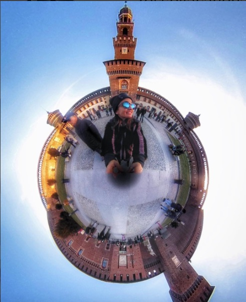 IL Castelo Sforzesco di Milano formato Little Planet